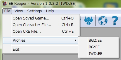 EEKeeper addで登録したら、読み出したいプロファイルを選択する.jpg